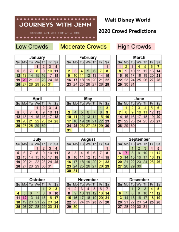 disney crowd calendar
