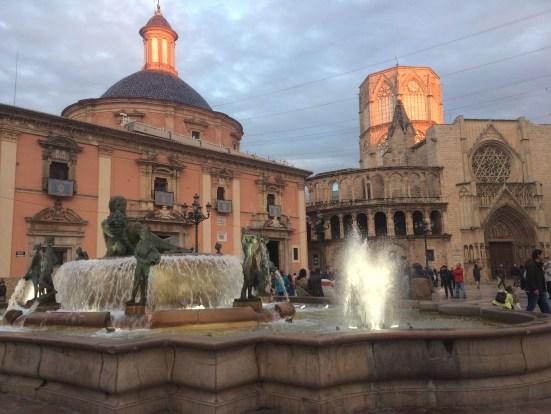 valencia's central plaza