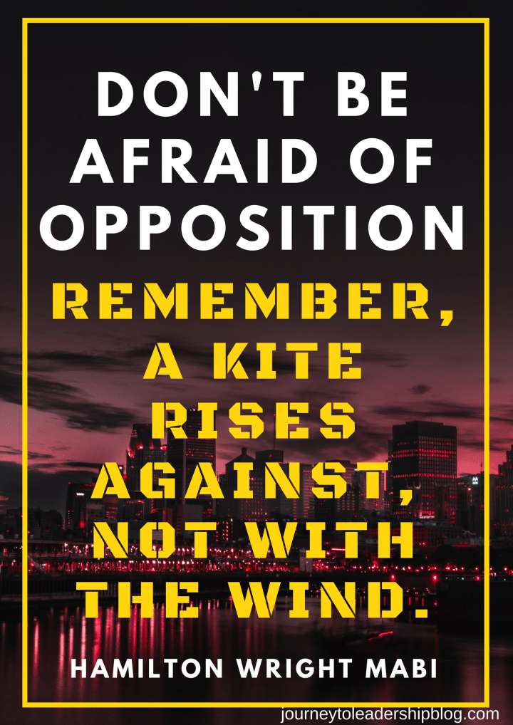 Don't be afraid of opposition. Remember, a kite rises against, not with the wind. Hamilton Wright Mabi (1).png