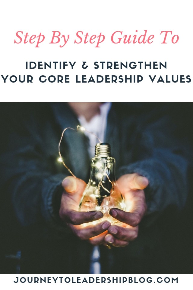 The Importance Of Identifying and Strengthening your Core Leadership Values