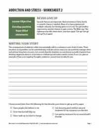 Addiction and Stress - Worksheet 2 (COD)