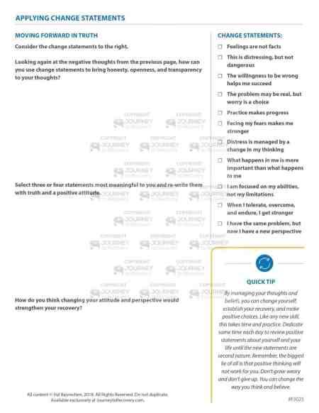 Applying Change Statements (COD Focused Journal)