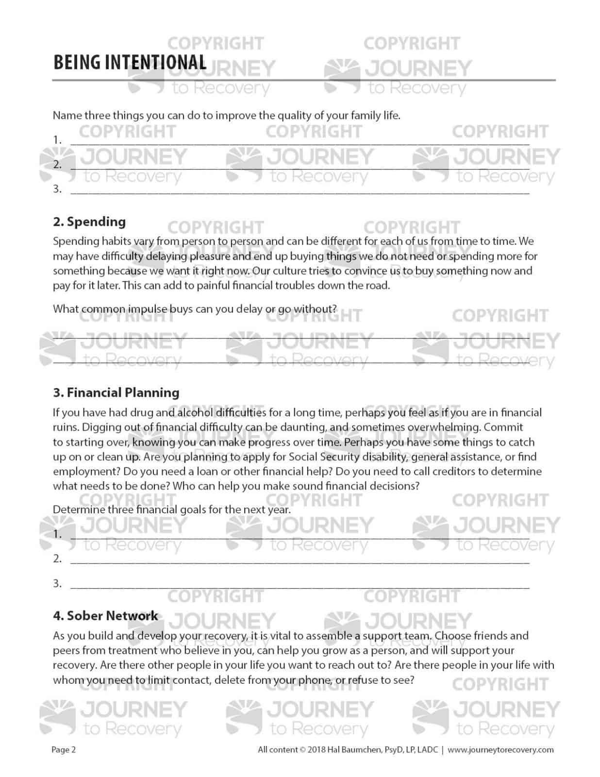 Being Intentional Cod Worksheet