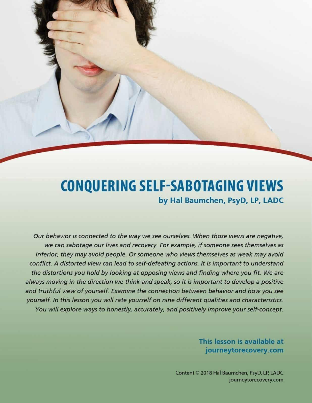 Conquering Self Sabotaging Views Cod Lesson