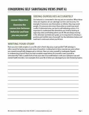 Conquering Self-Sabotaging Views – Part A (COD Worksheet)