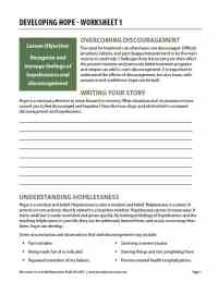 Developing Hope - Worksheet 1 (COD)