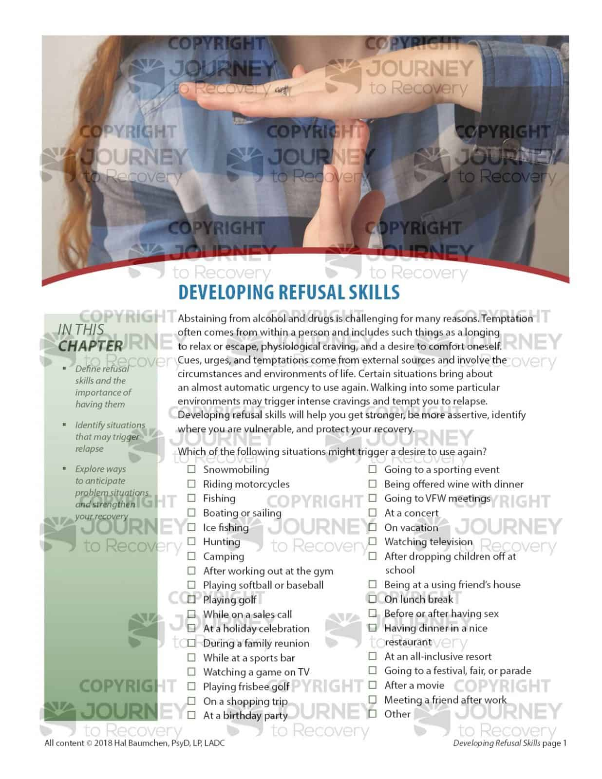 Developing Refusal Skills Cod Lesson