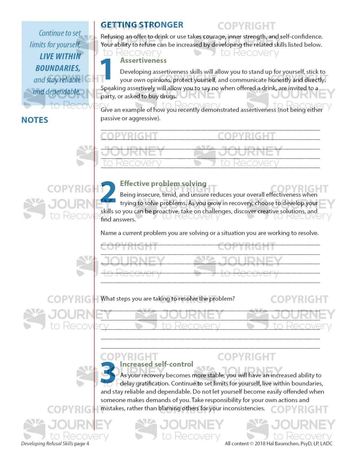 Developing Refusal Skills Cod Lesson