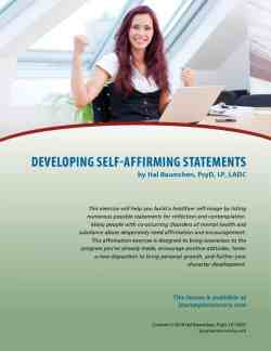 Developing Self-Affirming Statements (COD Lesson)
