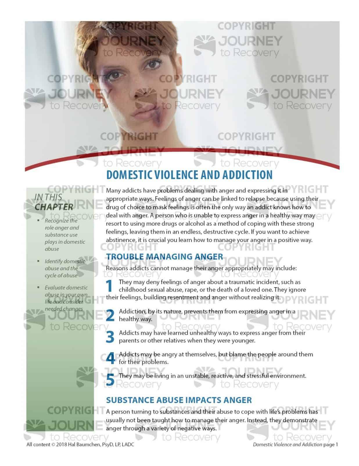 Domestic Violence And Addiction Cod Lesson
