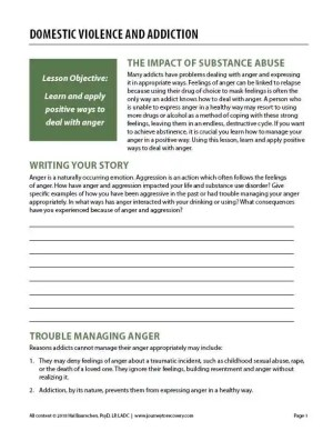 Domestic Violence and Addiction (COD Worksheet)