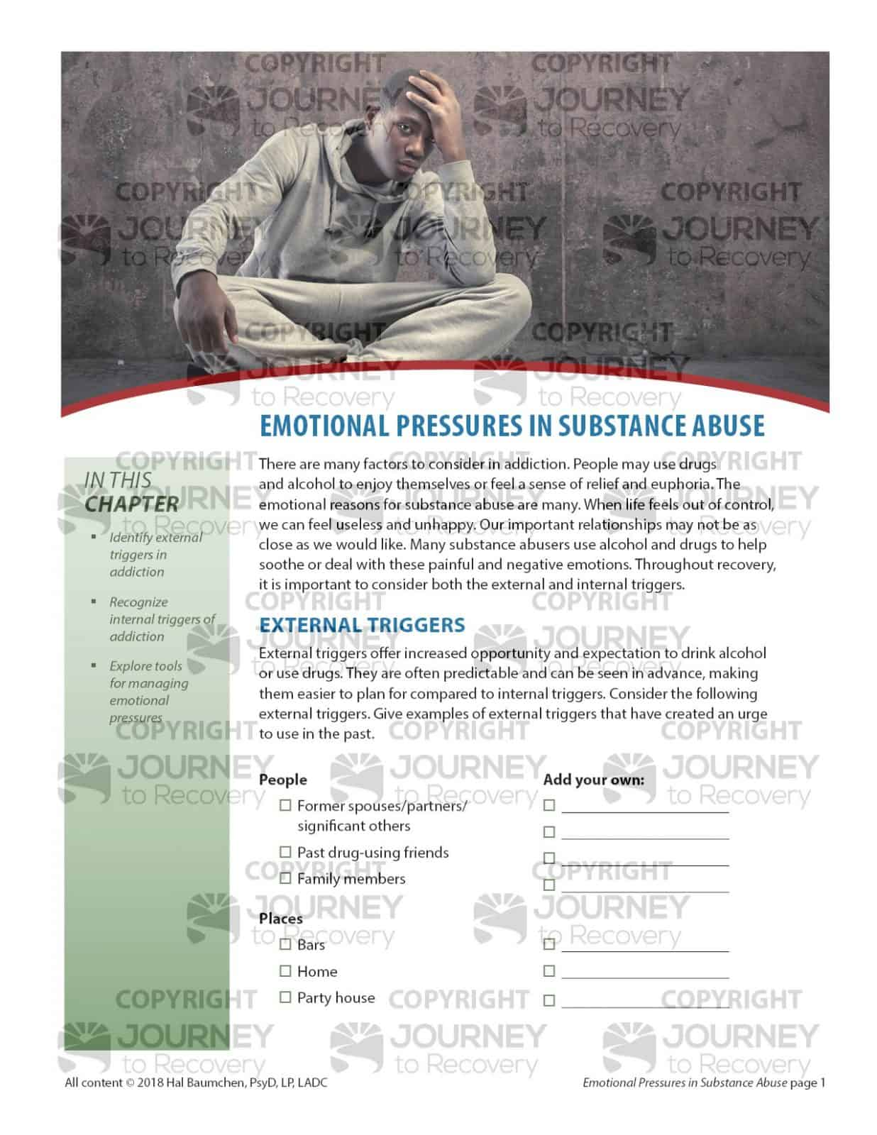 Emotional Pressures In Substance Abuse Cod Lesson