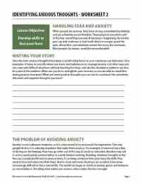Identifying Anxious Thoughts - Worksheet 2 (COD)