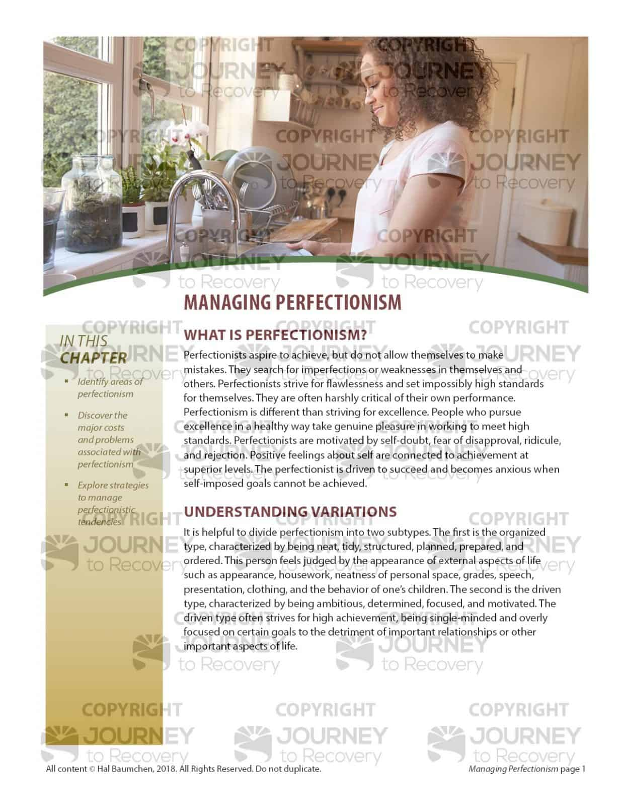 Managing Perfectionism Mh Lesson