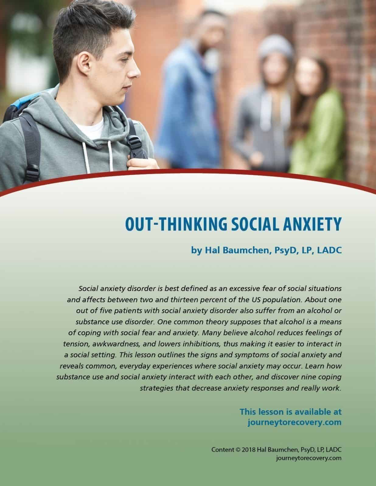 Out Thinking Social Anxiety Cod Lesson