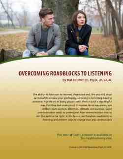 Overcoming Roadblocks to Listening (MH Lesson)