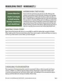 Rebuilding Trust - Worksheet 2 (COD Worksheet)