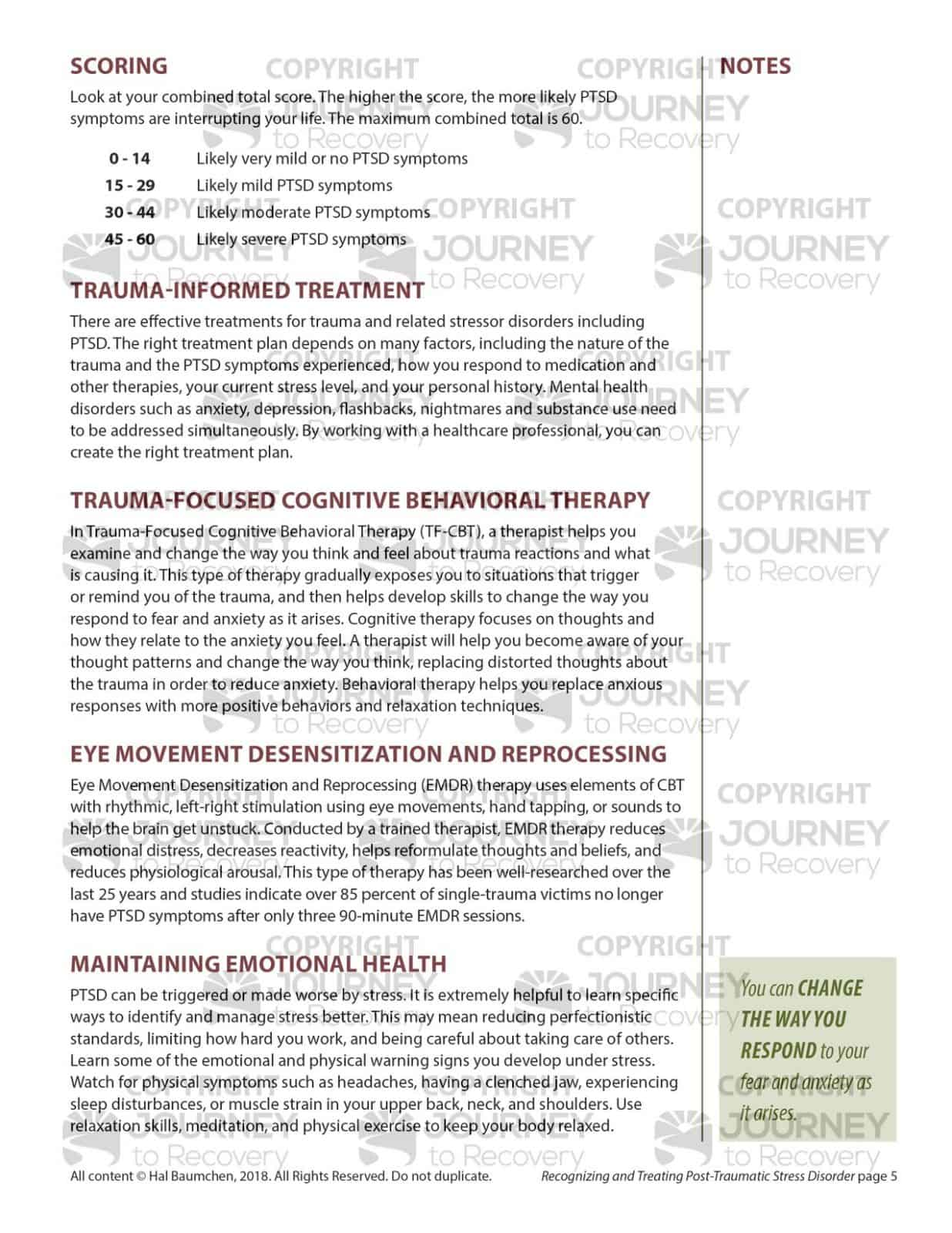 Recognizing And Treating Post Traumatic Stress Disorder Mh Lesson
