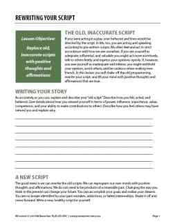 Rewriting Your Script (COD Worksheet)