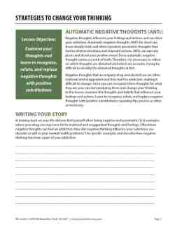 Strategies to Change Your Thinking (COD Worksheet)