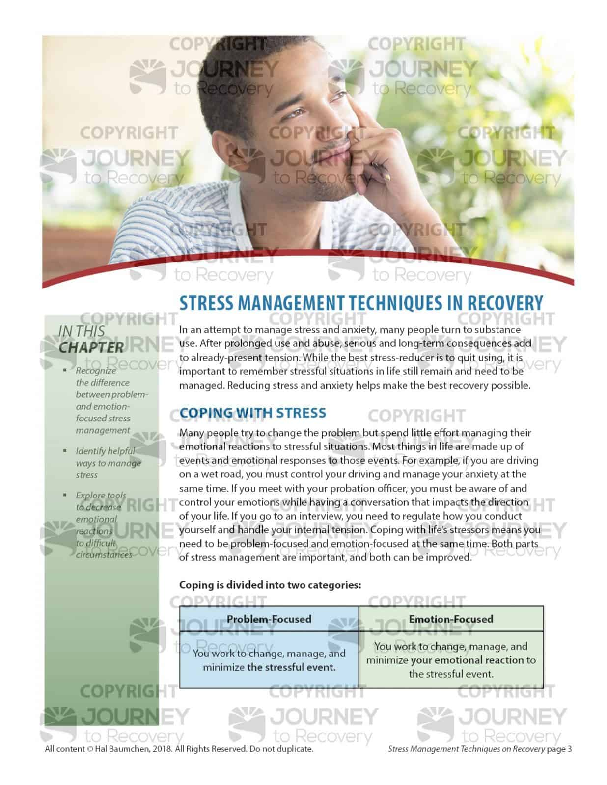Stress Management Techniques In Recovery Cod Lesson