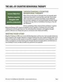 The ABCs of Cognitive Behavioral Therapy (COD Worksheet)