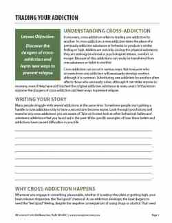 Trading Your Addiction (COD Worksheet)
