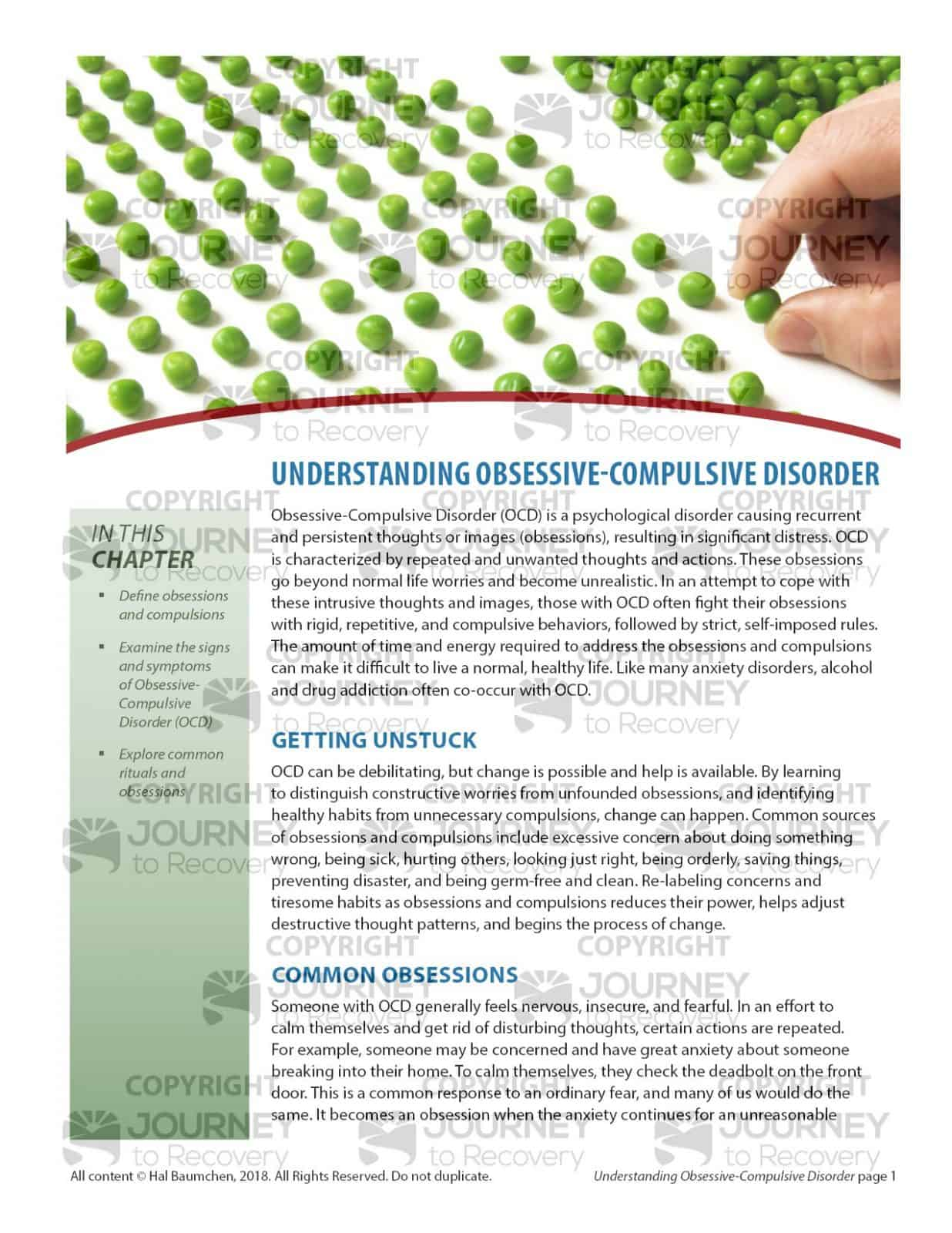Understanding Obsessive Compulsive Disorder Cod Lesson