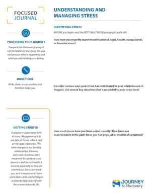 Understanding and Managing Stress (COD Focused Journal)