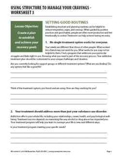 Using Structure to Manage Your Cravings – Worksheet 3 (COD)