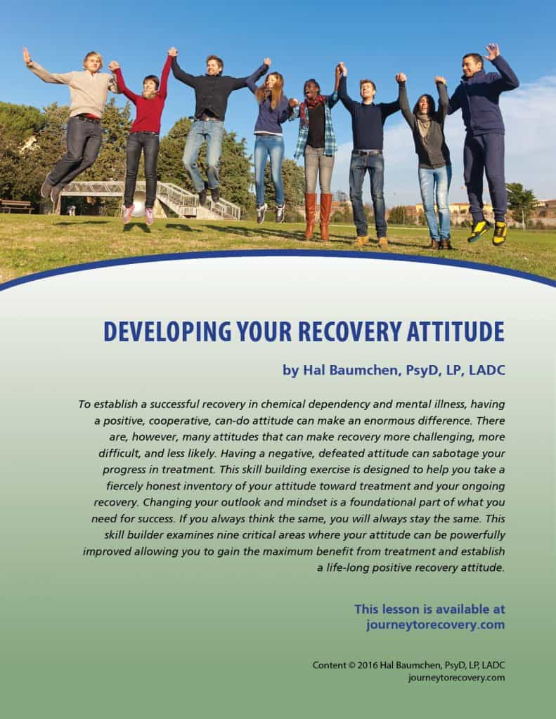 Developing Your Recovery Attitude