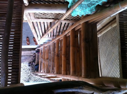 The ladder leading to the 2nd floor
