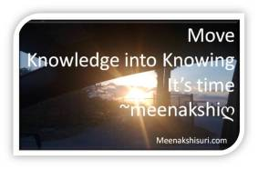 knowledge to knowing