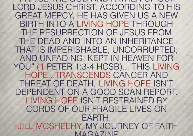 Hope Unbidden | www.journeywithjill.net