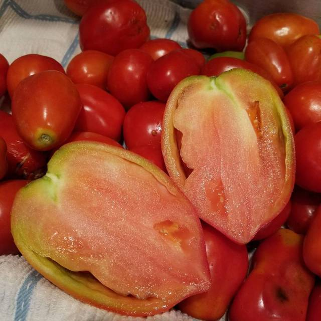 You can see why Amish Paste tomatoes are called pastehellip