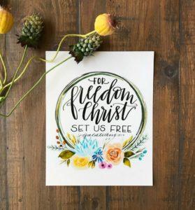 freedom digital print