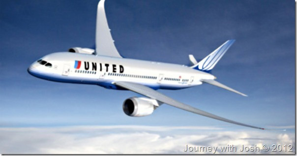 United Airlines' Boeing 787