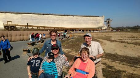 With the Collins at Noah's Ark