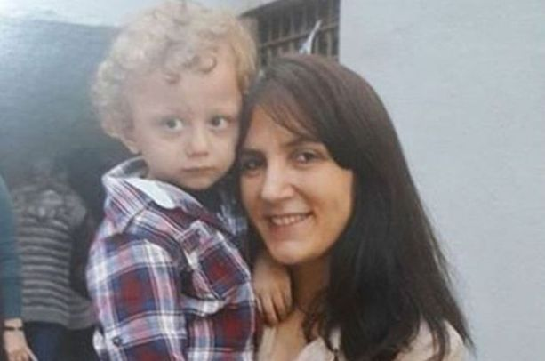 Zeynep Bakır with her son Poyraz Ali who was diagnosed with atypical autism while living in prison with his mother.