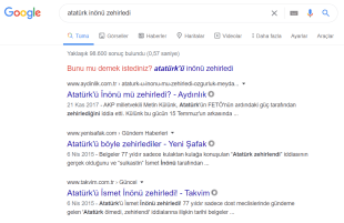 Google, Yeni Şafak'ın yalan haberine de arama sonuçlarının ikinci sırasında yer vermeyi sürdürüyor.