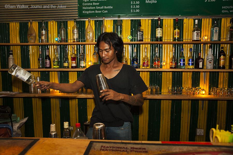 Hong, bar tender and owner at Siem Reap bar, Cambodia