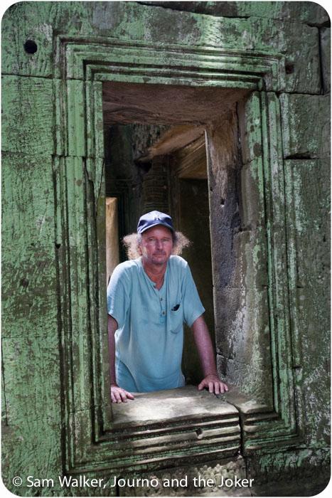 Steve at Ta Prohm temple, Siem Reap