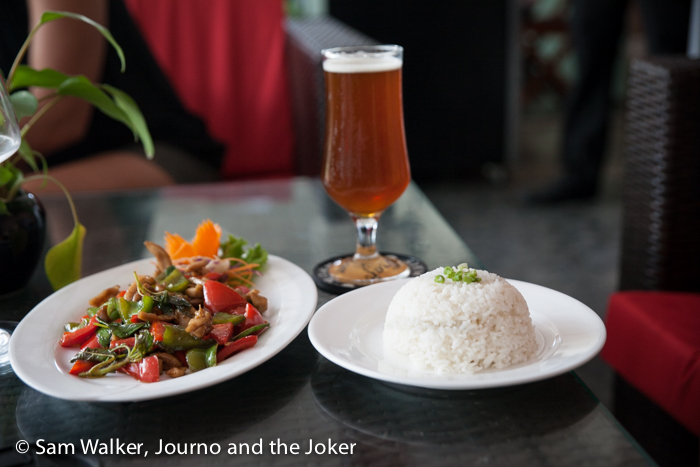 Food at the Siem Reap Brewpub