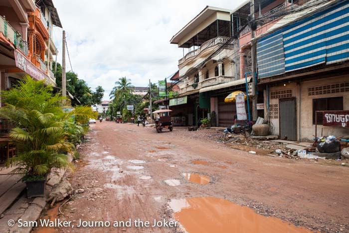 Street, Siem Reap after rain