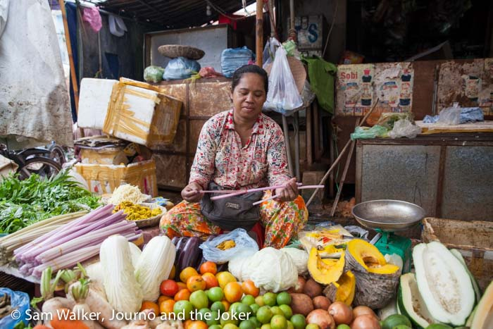 Woman at Phsar Leu Market