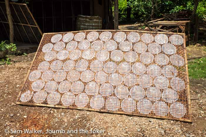 Rice paper drying