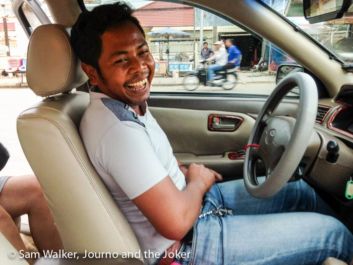 taxi driver for a day trip to Thailand