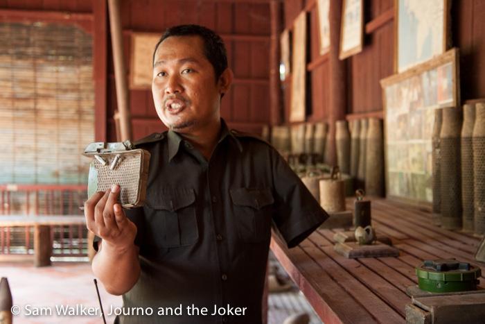 Display of weapons, War Museum, Siem Reap