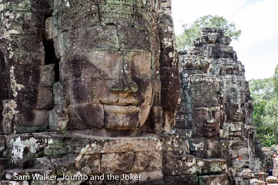 The faces of Bayon temple, Angkor Thom