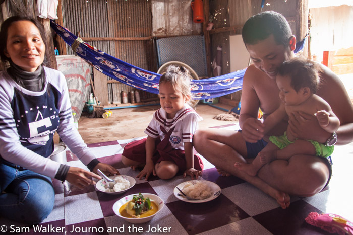 Cooking lesson and a family meal in a Khmer home